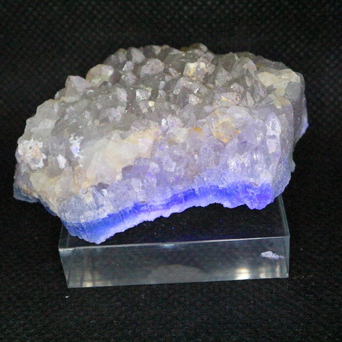 蛍石 フローライト アメジスト  コロラド州産 原石 60,7g FL166 鉱物 天然石 パワーストーン