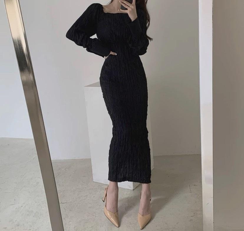 soft fabric dress 3color