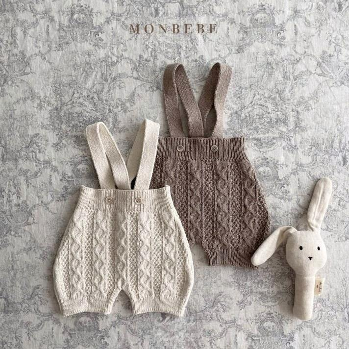 «sold out»«baby» monbebe knit rompers 2colors ニットロンパース