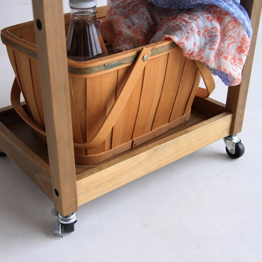 [ Rasic ] Wood  Kitchen Wagon (MO) /ヴィンテージスタイル キッチンワゴン