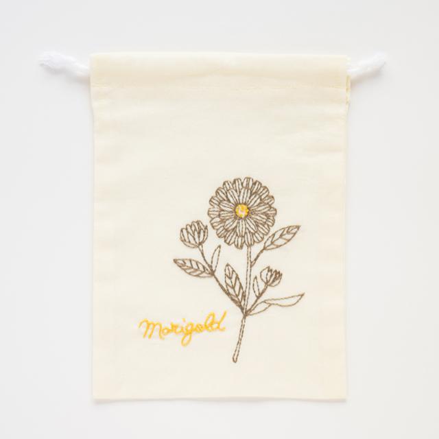 『マリーゴールド』きんちゃく刺繍キット