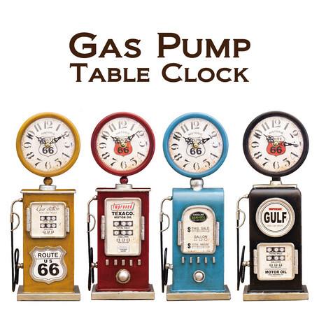 テーブルクロック ガスポンプ【置時計】