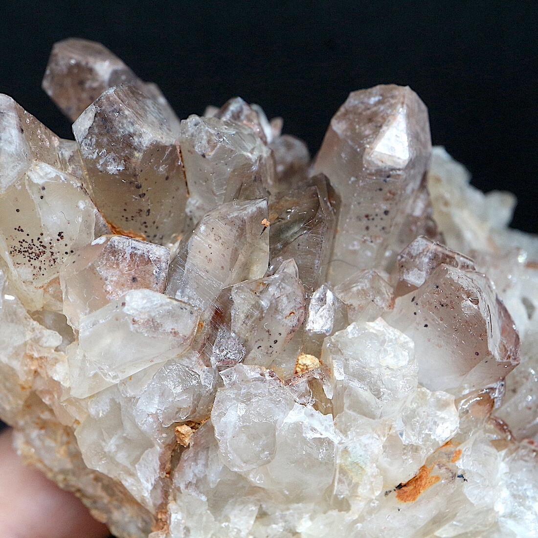 コロラド産 レッドフェザー レイクス クォーツ ヘマタイト 水晶 318,9g RFQ034 鉱物 原石 天然石 パワーストーン