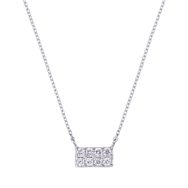 K18WGダイヤモンドネックレス 020201009416