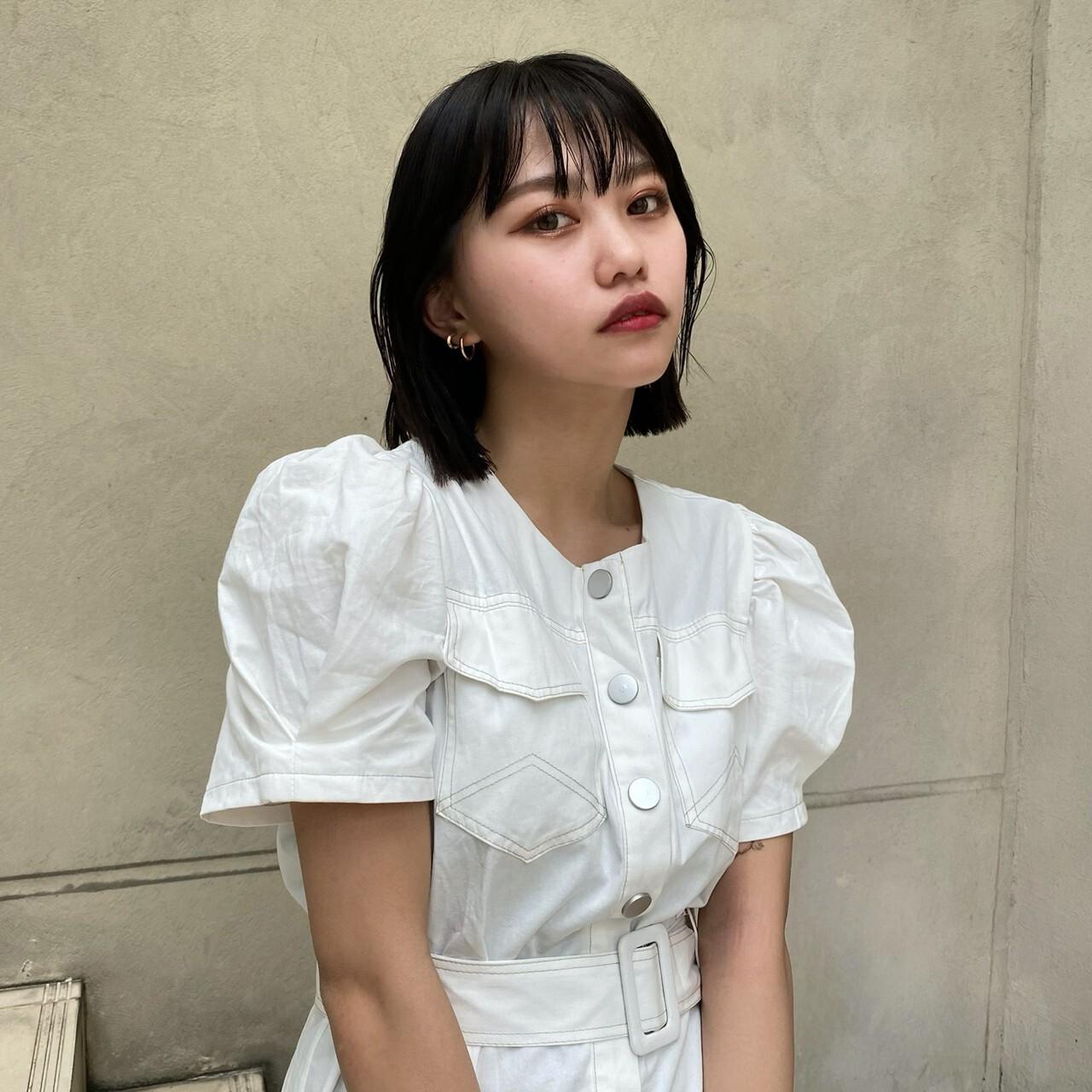 【Belle】stitch onepiece / white