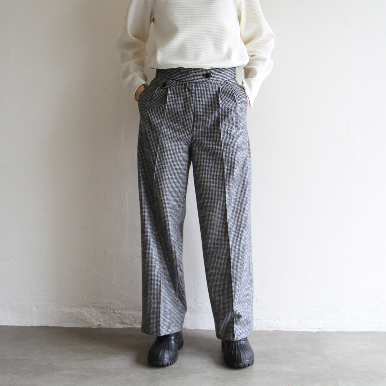 WRYHT【 womens 】 knotted back pleated trouser