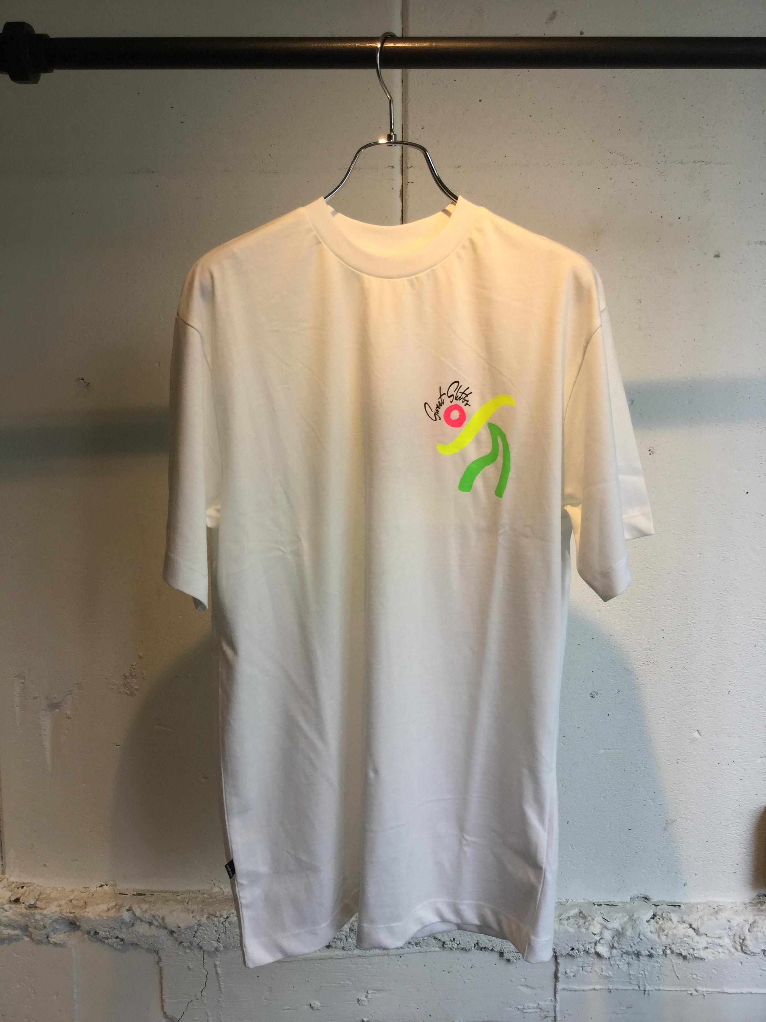 SWEET SKTBS    T-SHIRT SWEET 90's LOOSE DANCE  (WHITE)