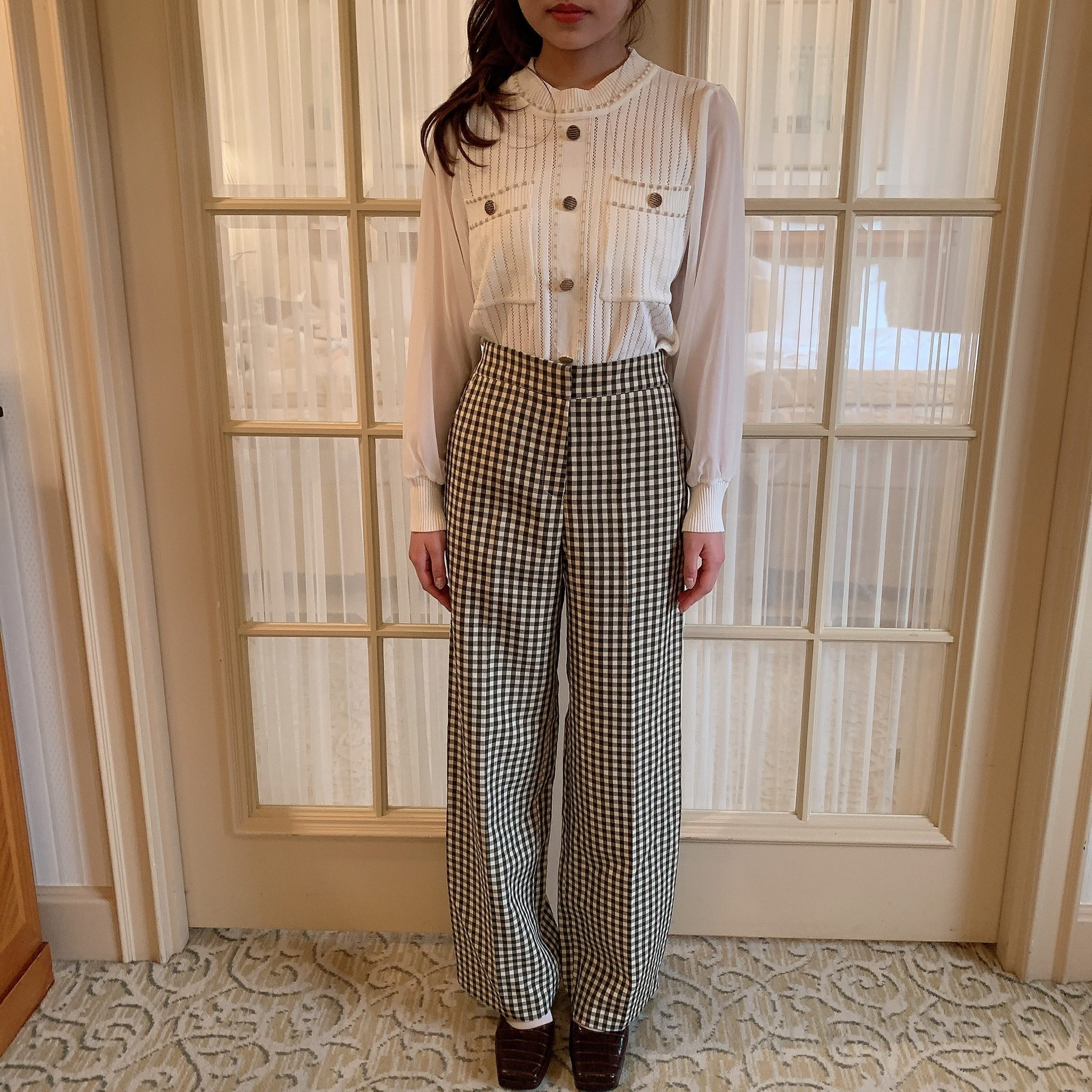 【LAST3】classical see-through knit