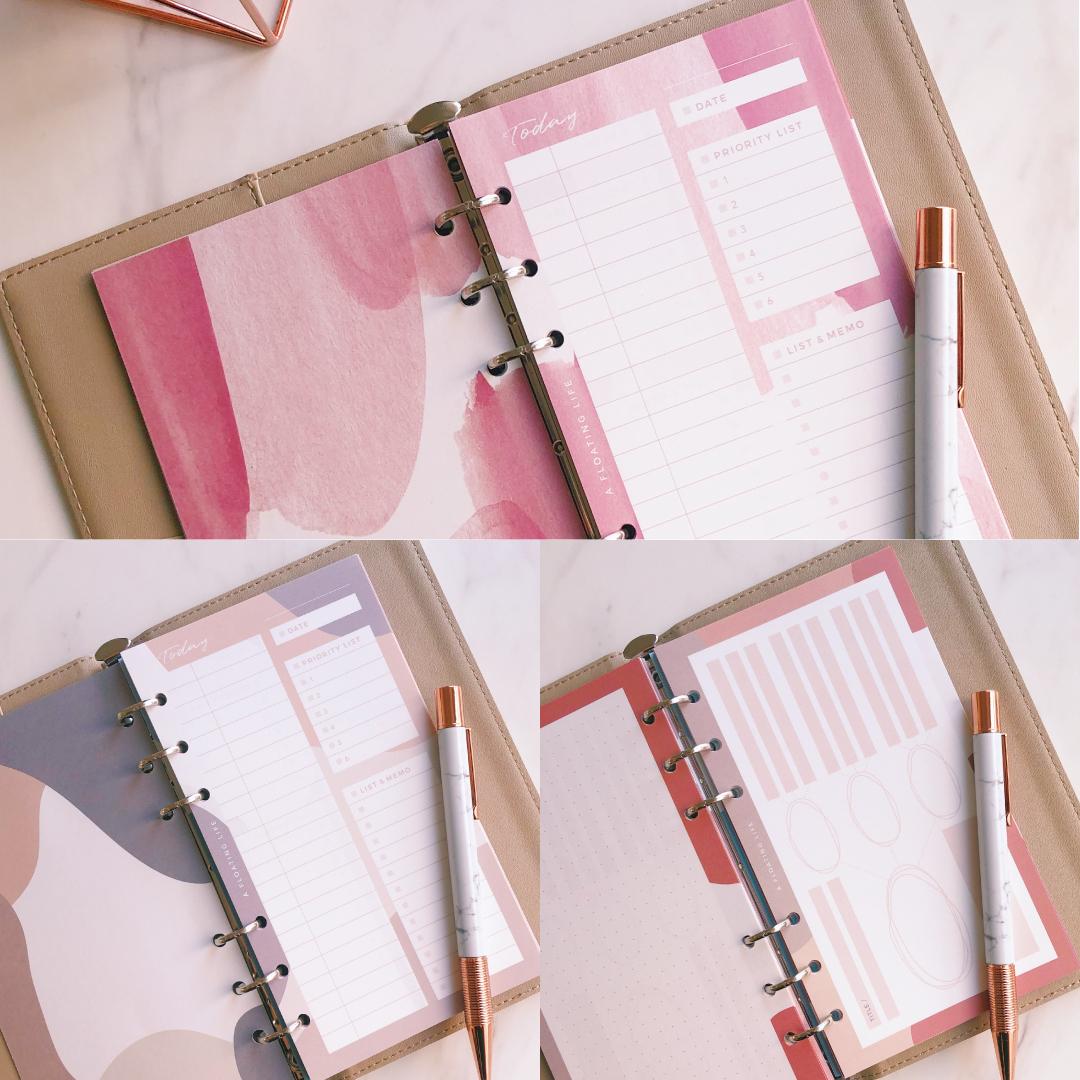 【冬の新作バイブル3種セット】システム手帳リフィル(カレンダーなしセット)