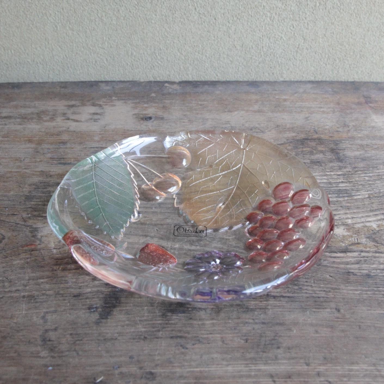 昭和レトロなフルーツ柄 小皿 在庫5枚