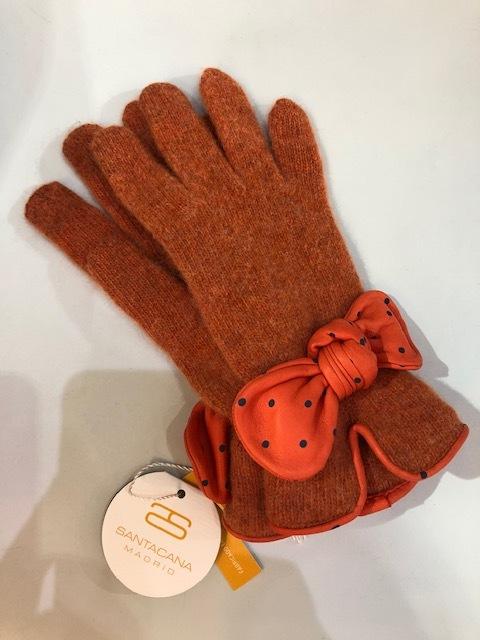 SANTACANA スペイン製 ウールアンゴラナイロン+羊革 手袋 ST-LN-249i