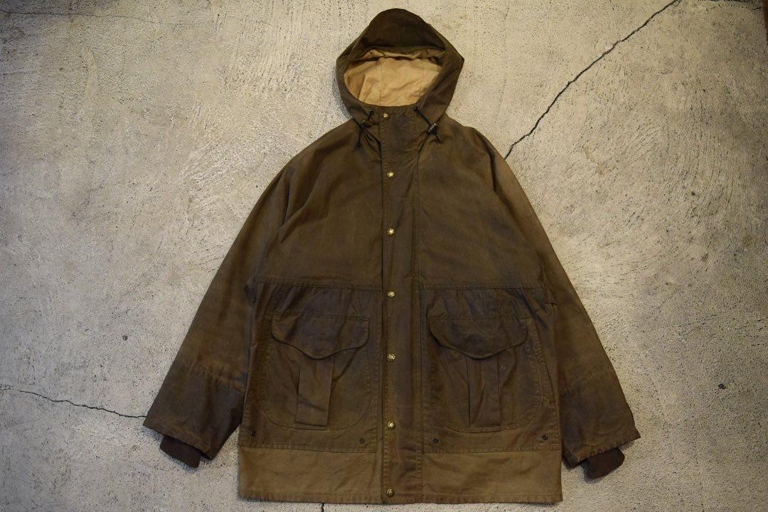 USED FILSON Waxed Hooded Jacket M 0875