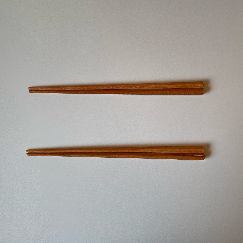 対馬産欅のお箸
