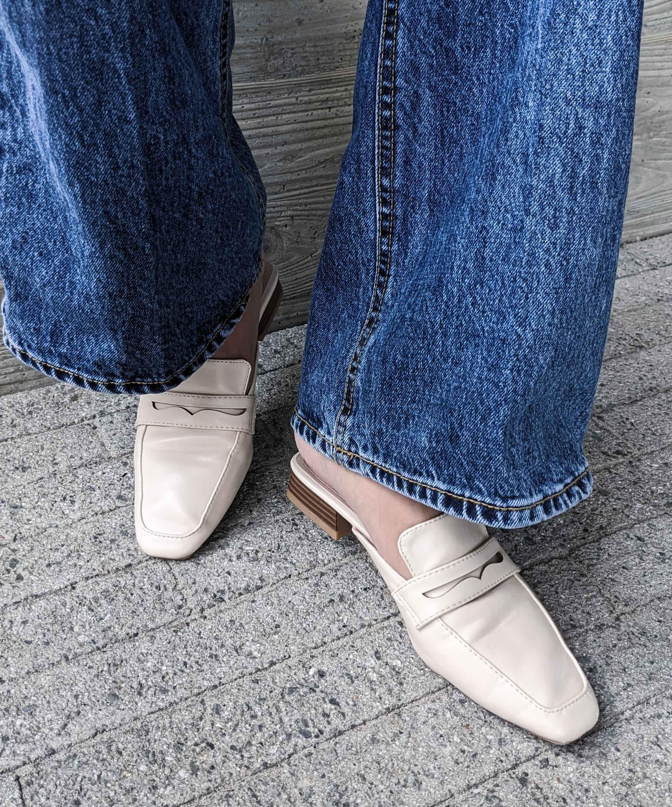 Square toe slipper