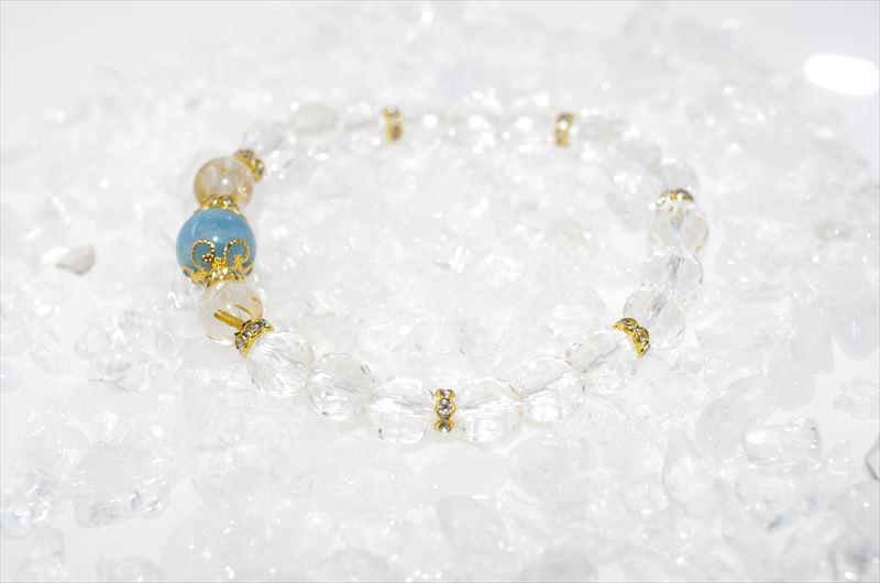 Aquamarine Birthstone(3月誕生石)【パワーストーンブレスレット 】 - 画像3