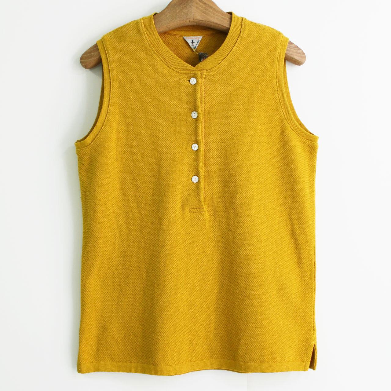 FilMelange  フィルメランジェ ODILE オディル オーガニック空紡カノコ  ノースリーブポロシャツ