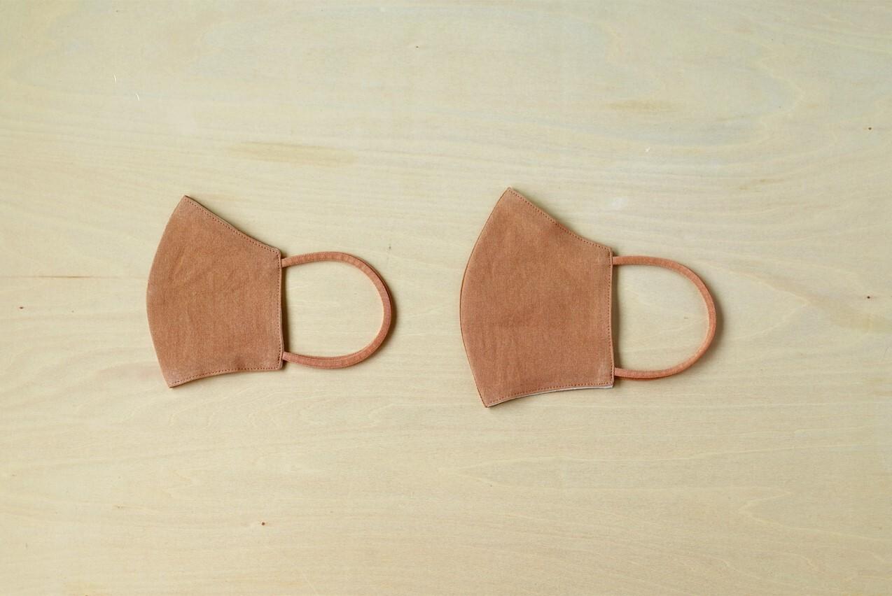 【新色追加】和紙素材を染めたナチュラルマスク | 農colorマスク
