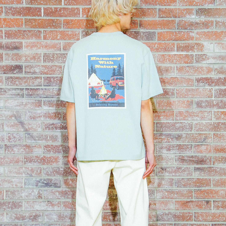 抗菌・消臭加工で実用性も◎ ワッペンプリントTシャツ
