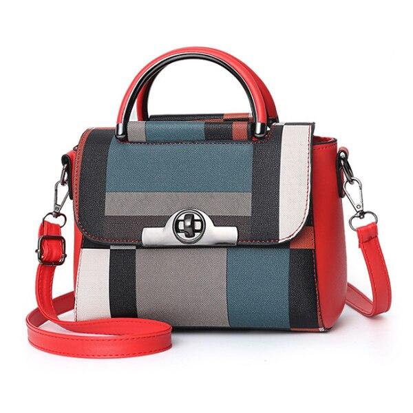 高品質PUレザーハンドバッグ ショルダーバッグ カジュアルメッセンジャーバッグ Red