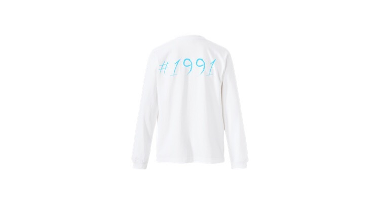 1991 pop long T-shirts (BL)