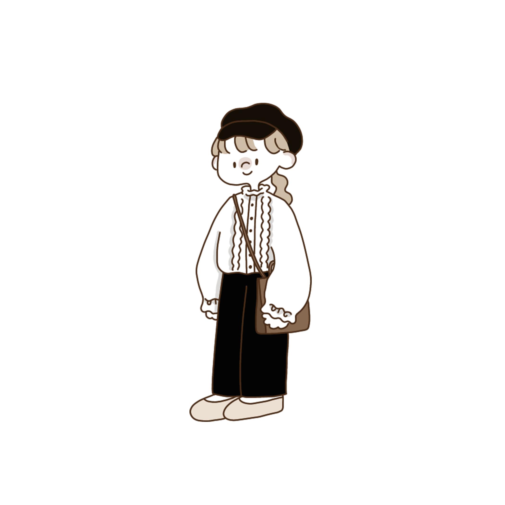 〈カフェシリーズ〉ワイドカフェパンツ 【wide cafe pants】