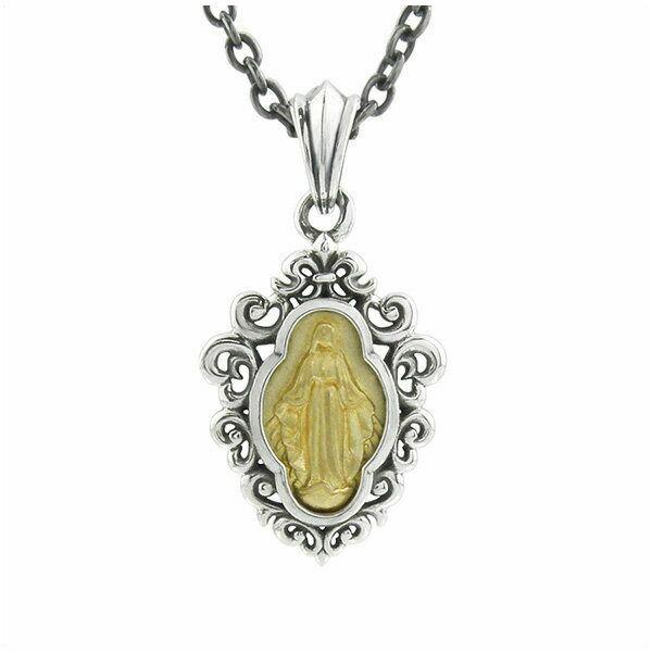 アンティークマリアペンダント シルバーネックレス AKP0104 Antique Maria Pendant Silver Necklace