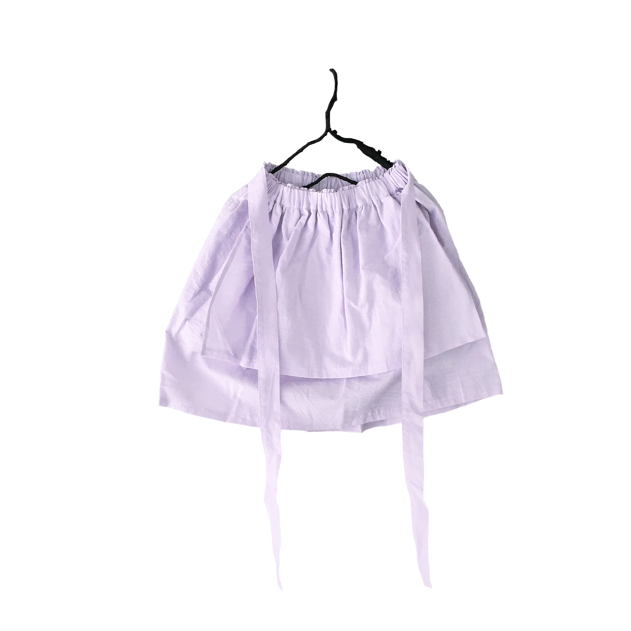 APRON STYLE SKIRT DYED / LL