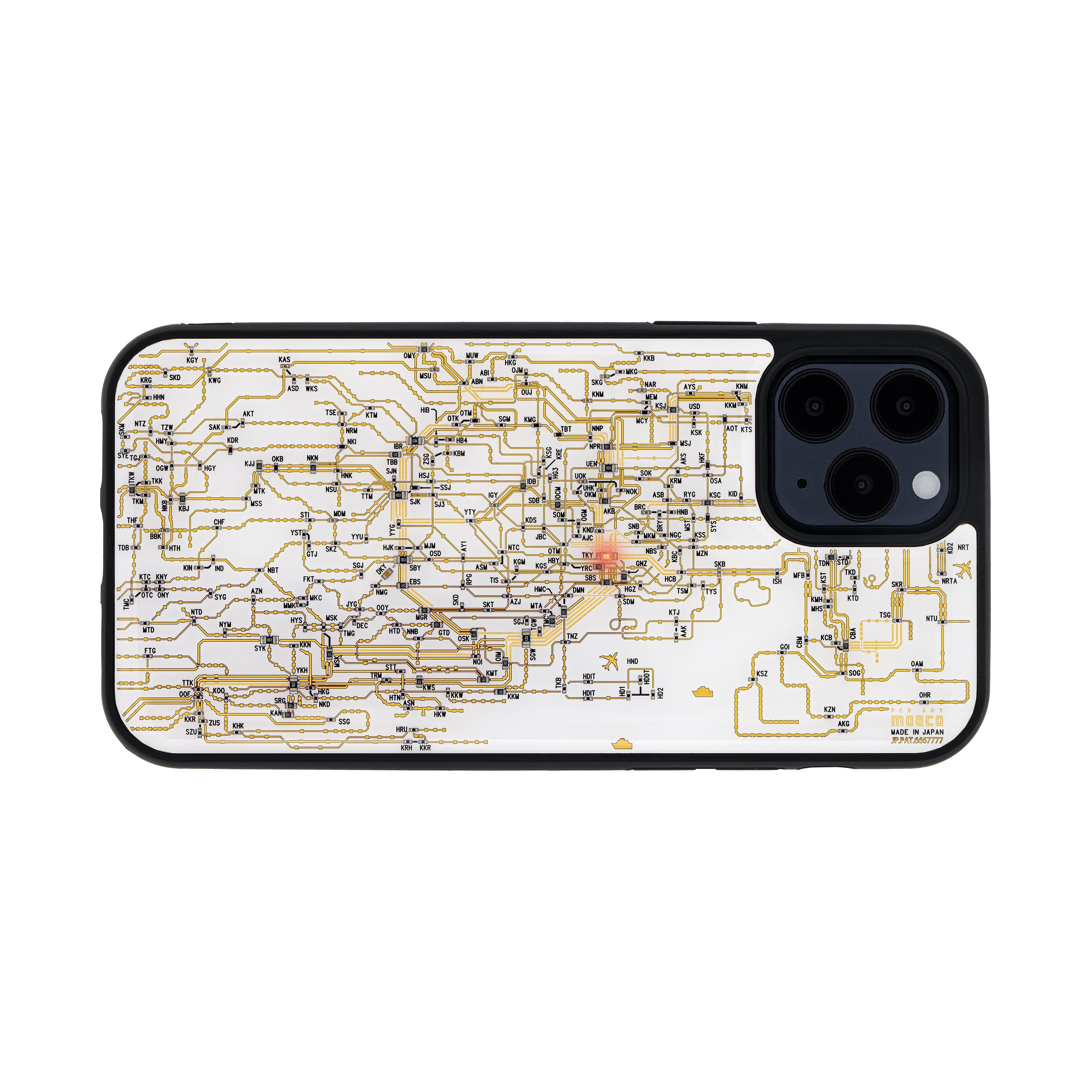 FLASH 東京回路線図 iPhone 12 / 12 Pro ケース 白【東京回路線図A5クリアファイルをプレゼント】