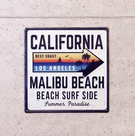 アンティークエンボスプレート[MALIBU BEACH]