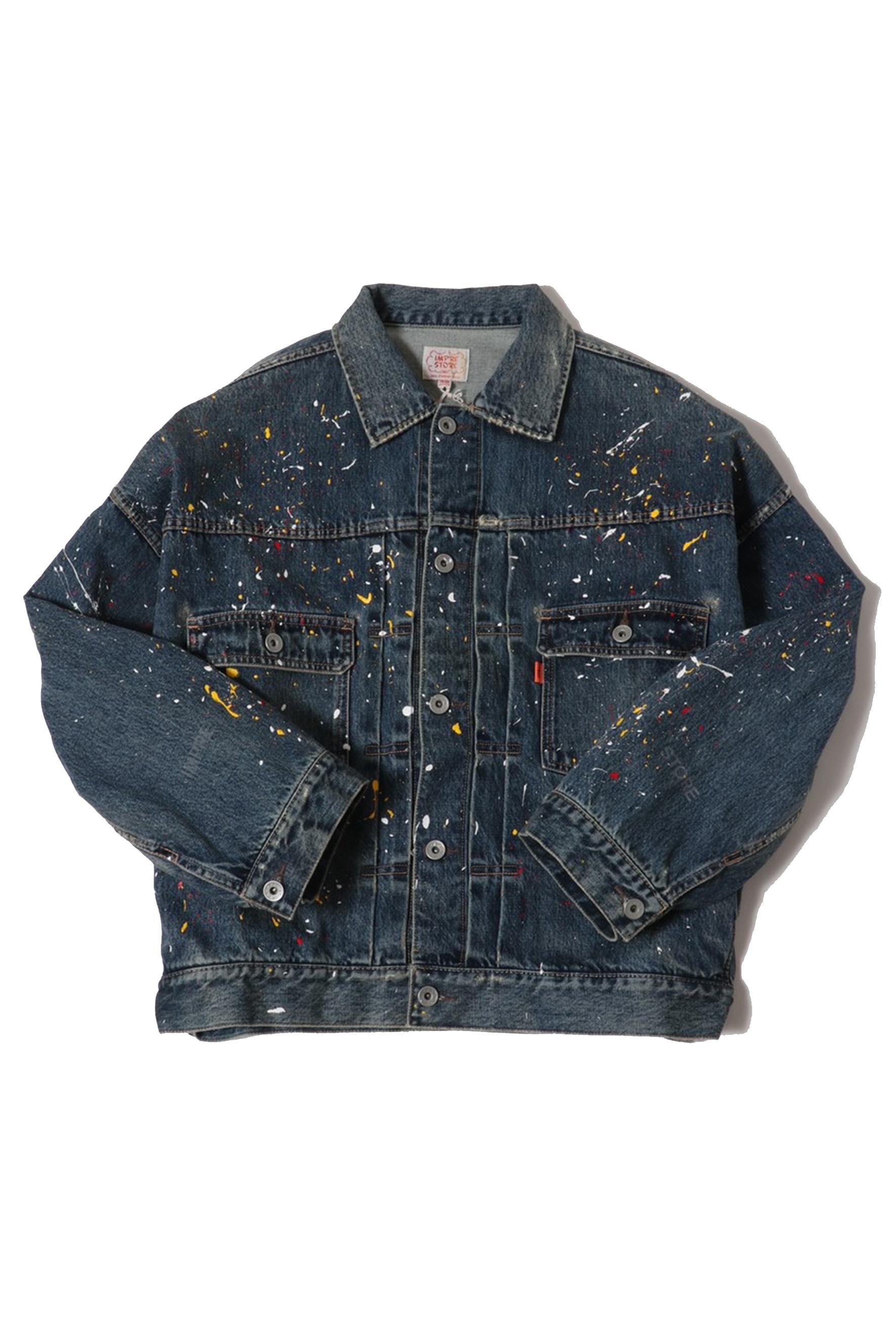 12.5oz Denim Jacket / vintage paint