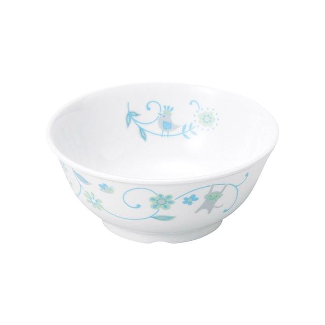 強化磁器11cm こども茶碗 サラサ・ブルー【1087-1320】