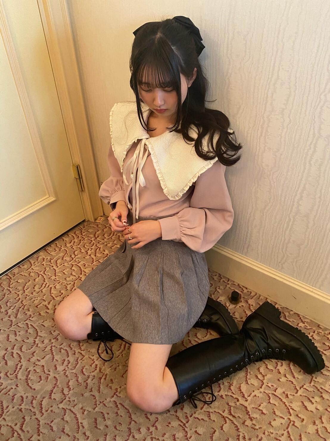 【original】collar 2way tops(pink)