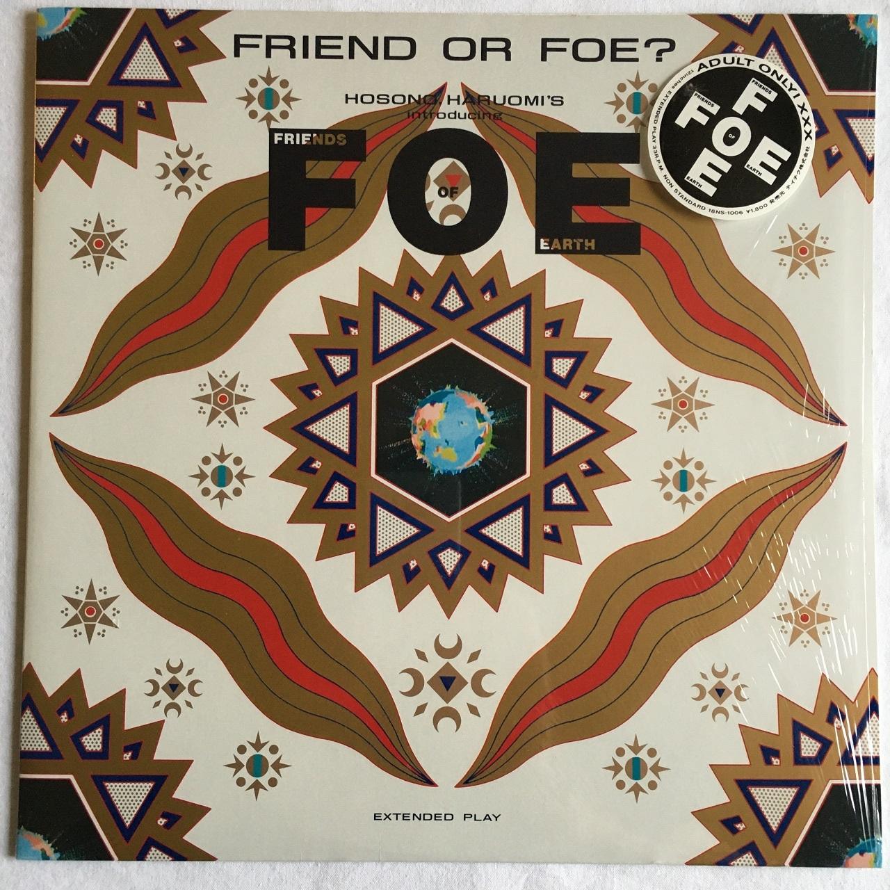 【12inch・国内盤】FOE (Friends of Earth)  / FRIEND OR FOE?