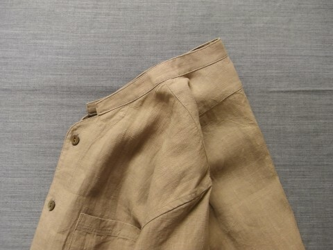belgium-farmers h/s linen shirt / frenchpowder