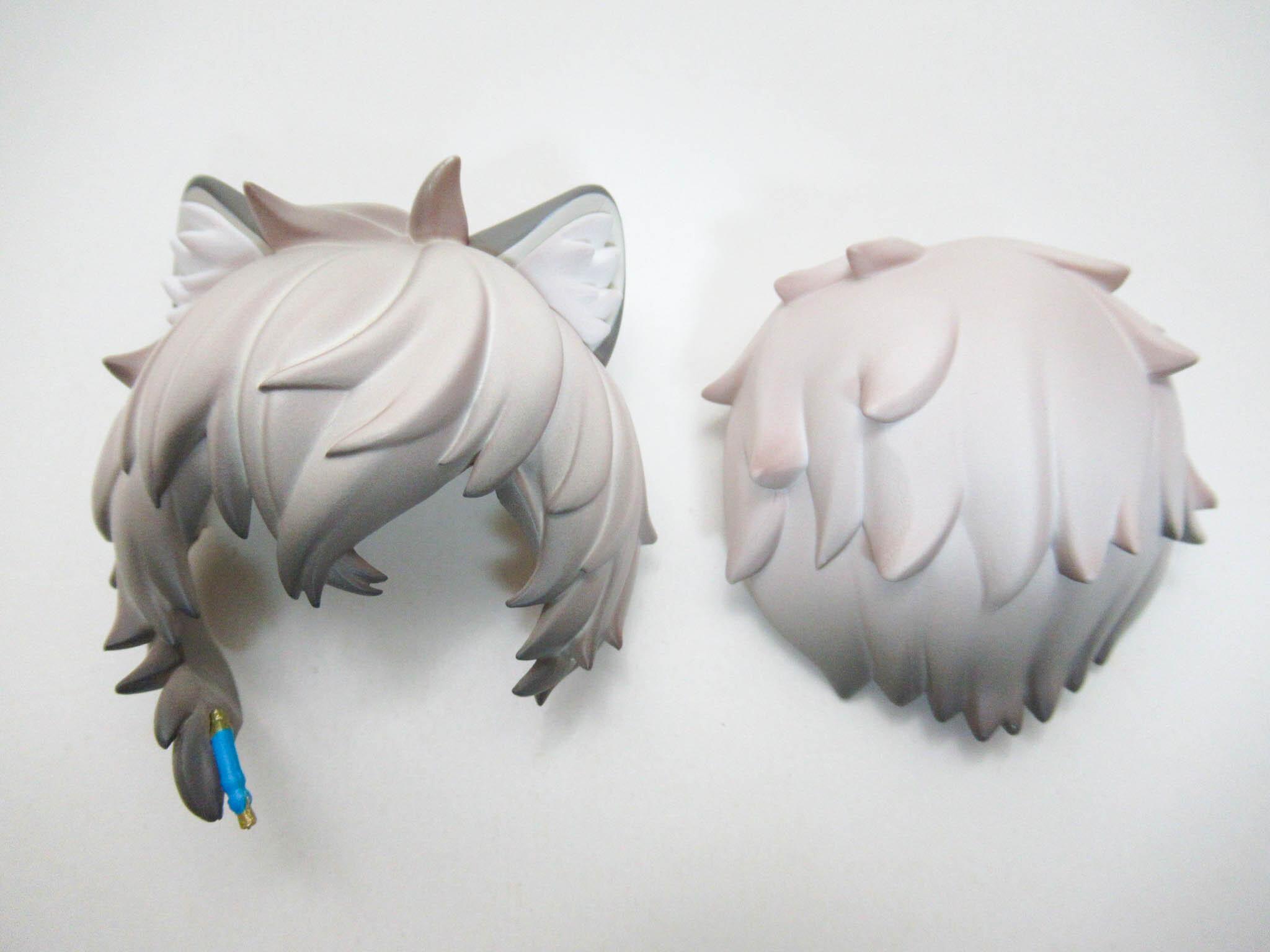 【1423】 シルバーアッシュ 髪パーツ ケモ耳ショート (A-ランク) ねんどろいど