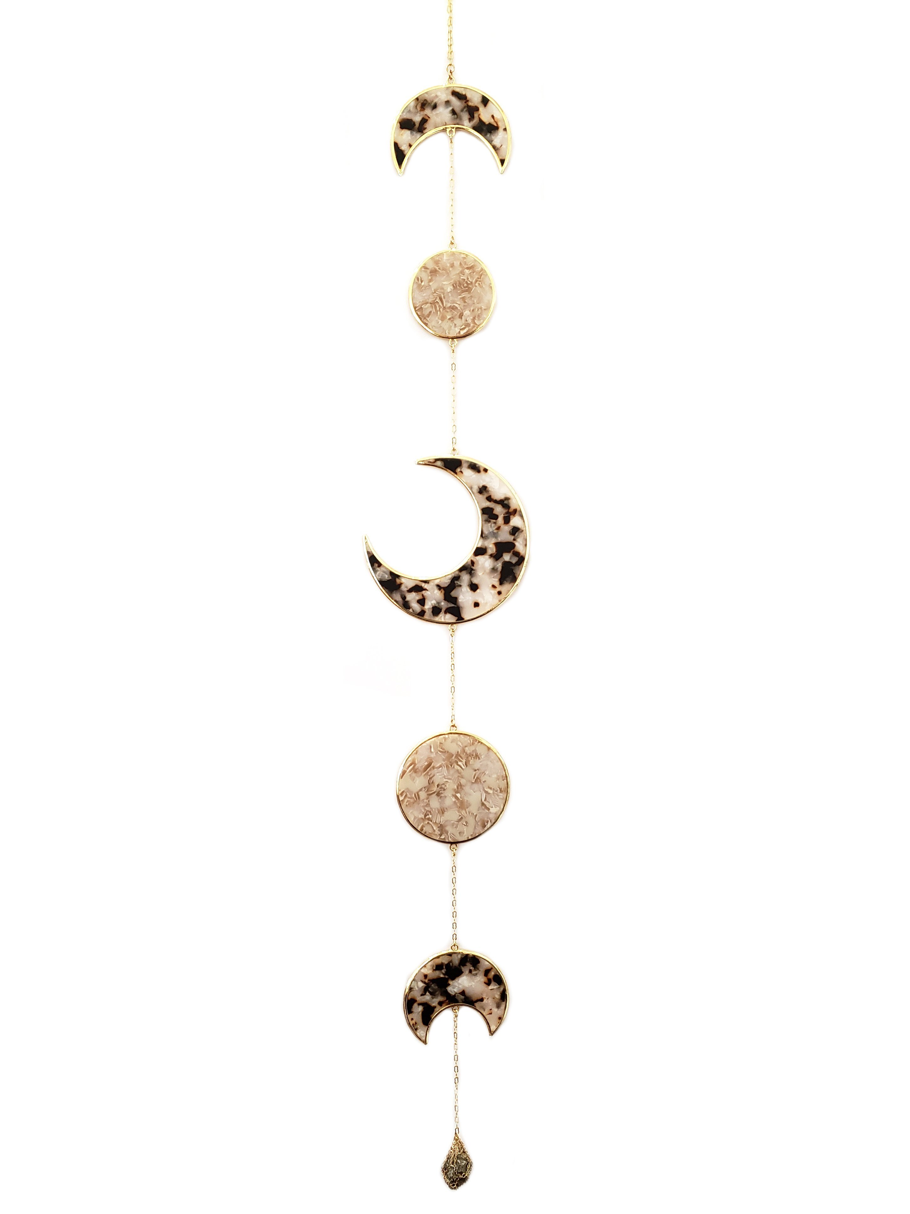 Resin Moon Phase Wall Hanging 月フェイズ壁掛け