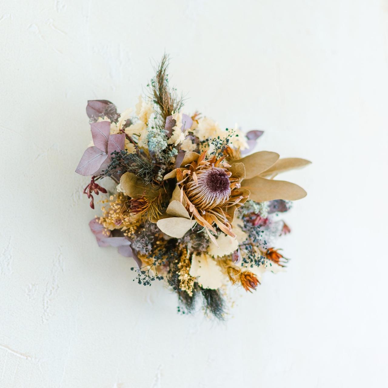 Wall flower purple beige ウォールフラワー パープル ベージュ