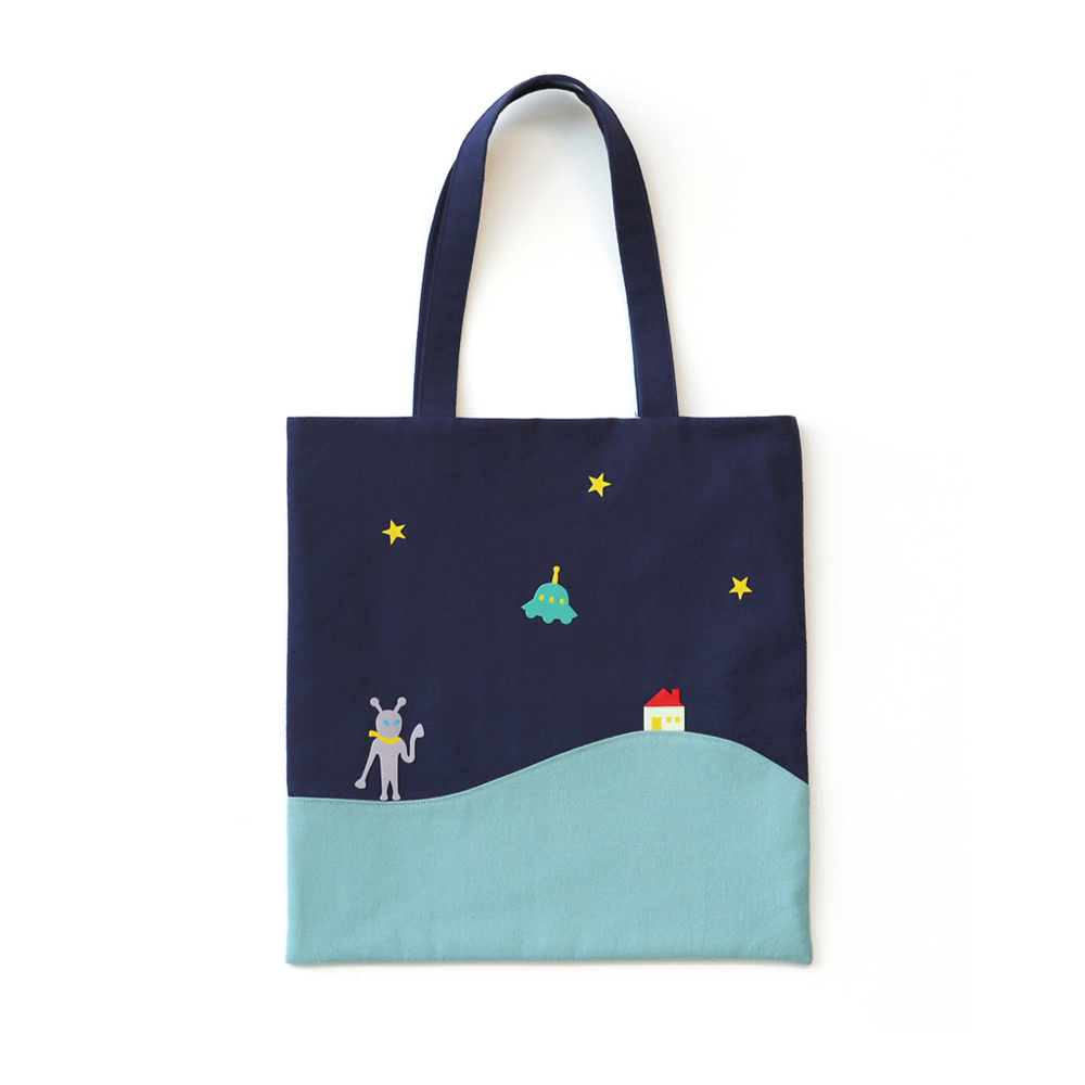 noono x Re:VERSE PRODUCTS ぺたんこバッグ(夜)宇宙人