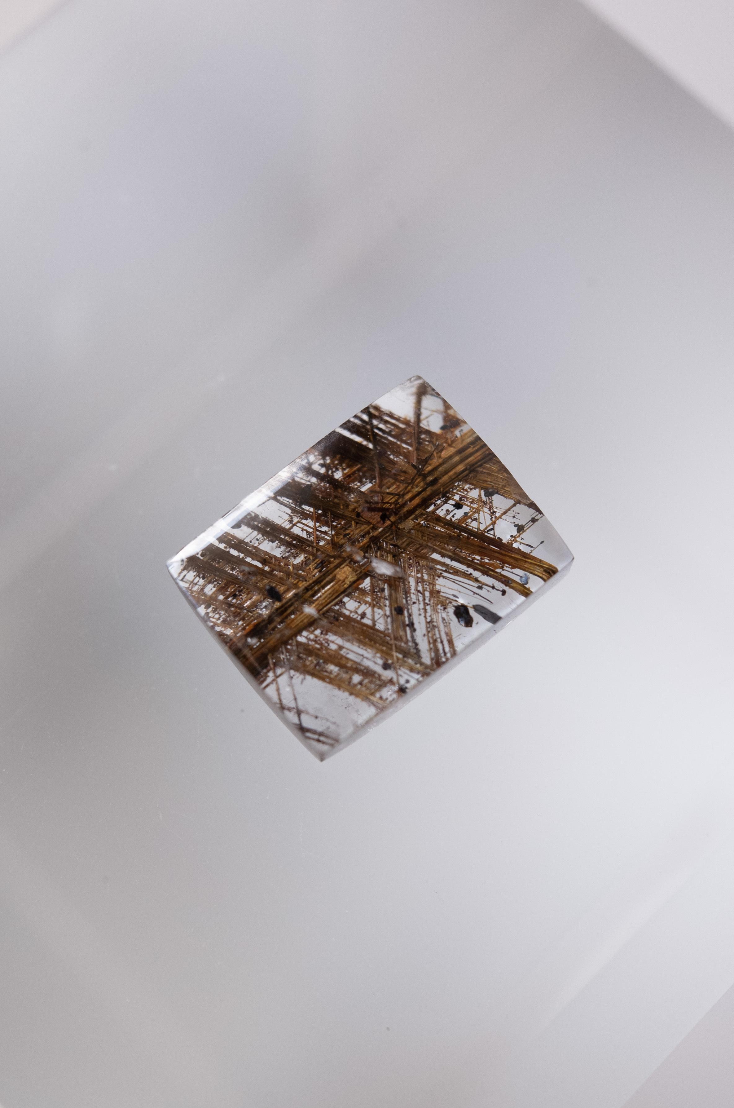 Geometric Rutilated Quartz - 007