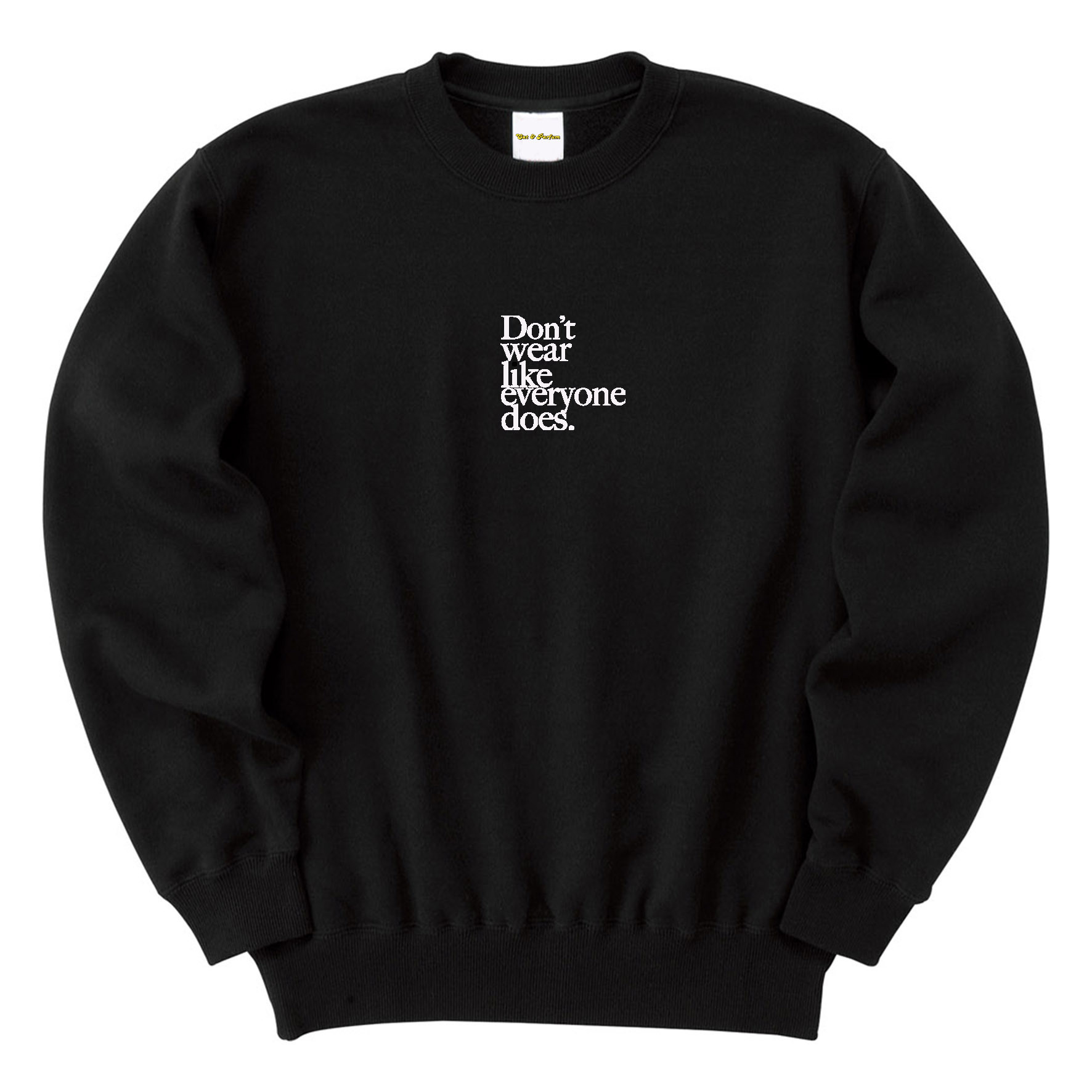 【Cat & Parfum】Don't wear like everyone does. Embroidery Logo Cotton Sweat