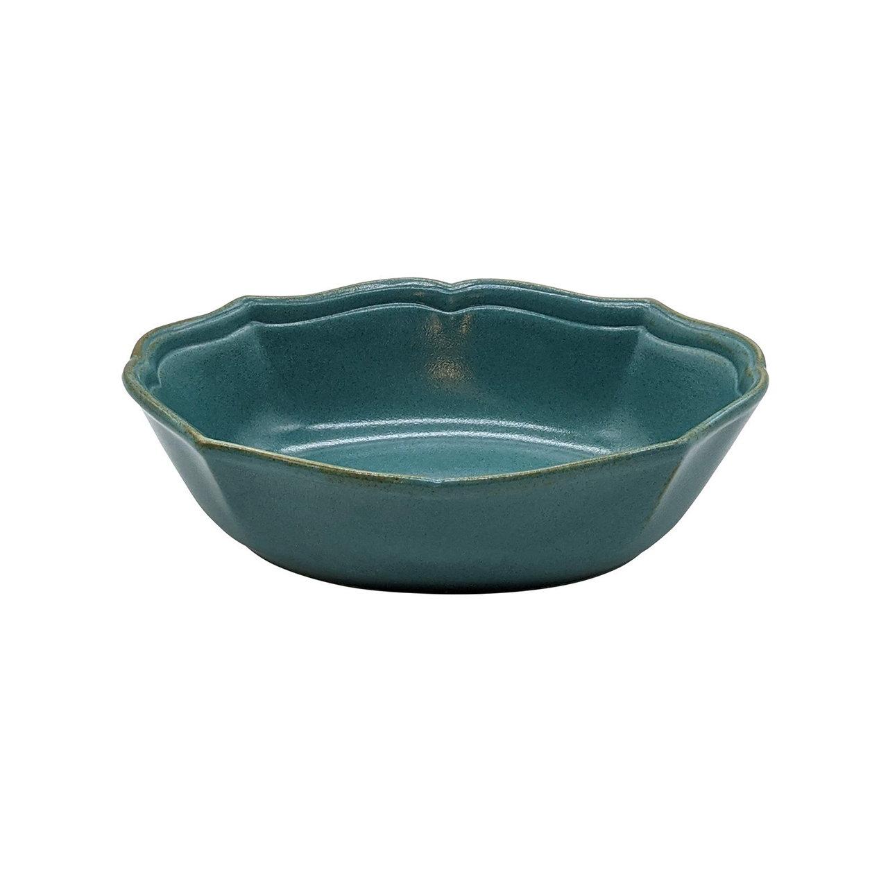 美濃焼 一洋陶園 カードル cadre 楕円 サラダボウル 皿 約18×13cm 緑 ブロンズ 513-0032