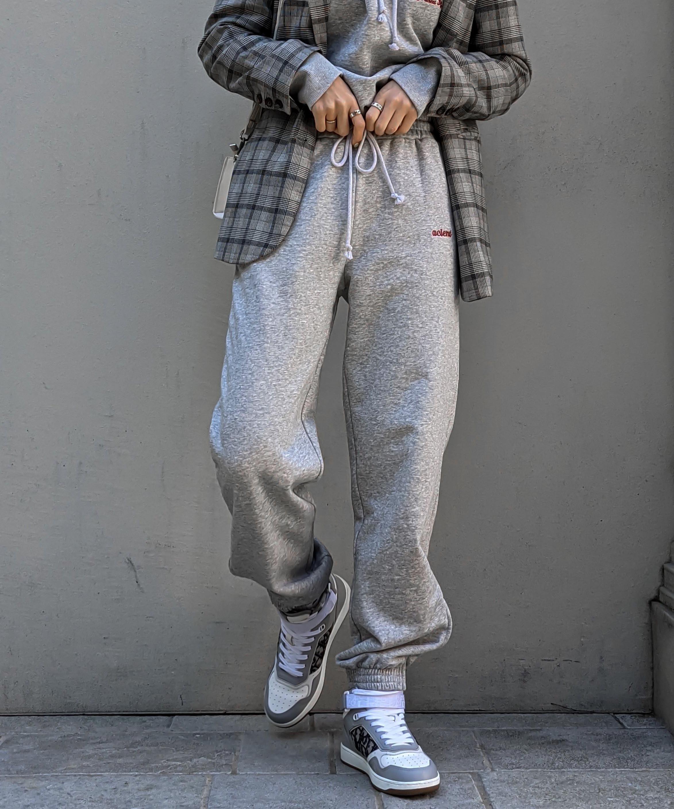 2way zip sweat pants