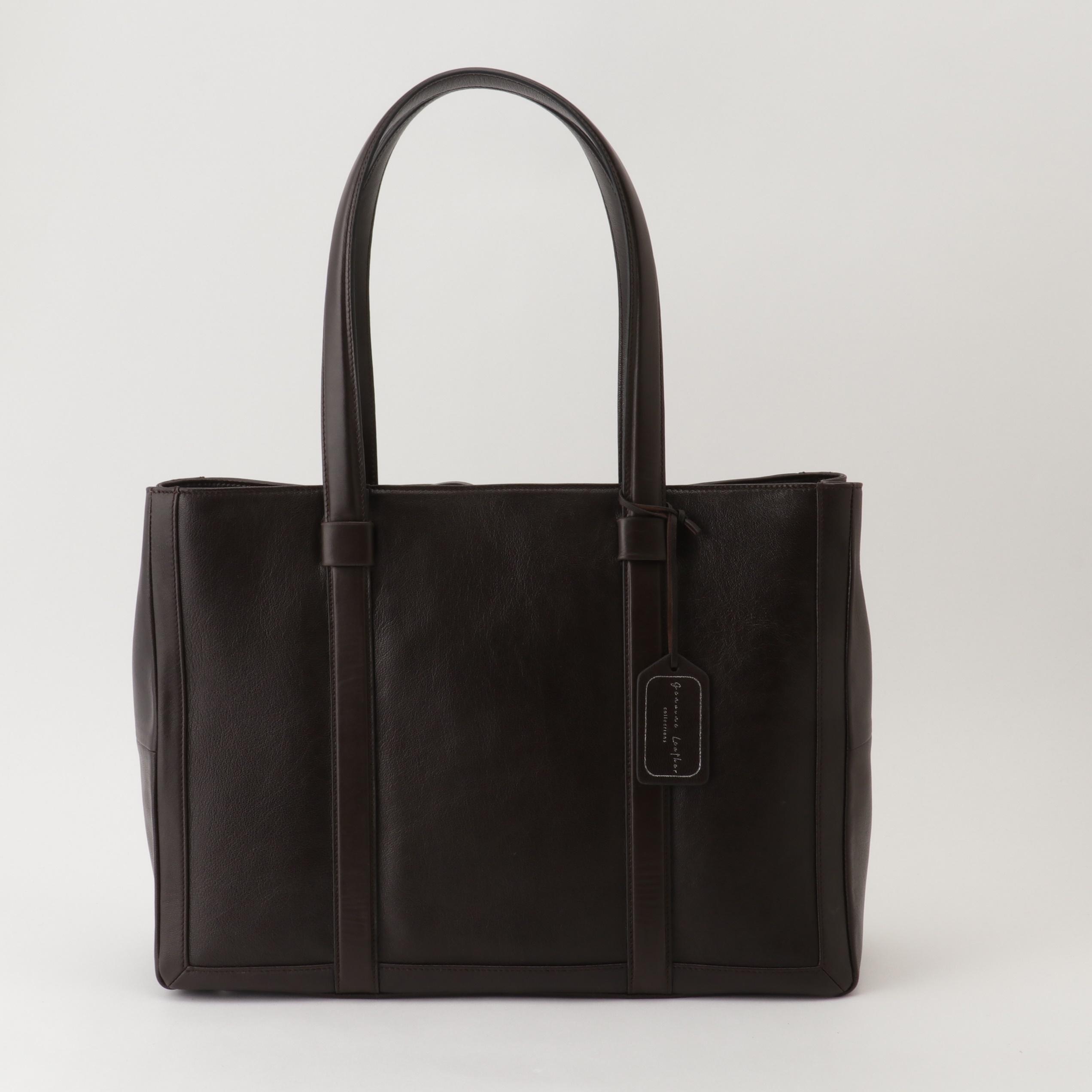 A4 WIDE TOTE BAG Ⅱ  男女兼用サイズ~当店オリジナル革製品ブランド、Genuine Leather