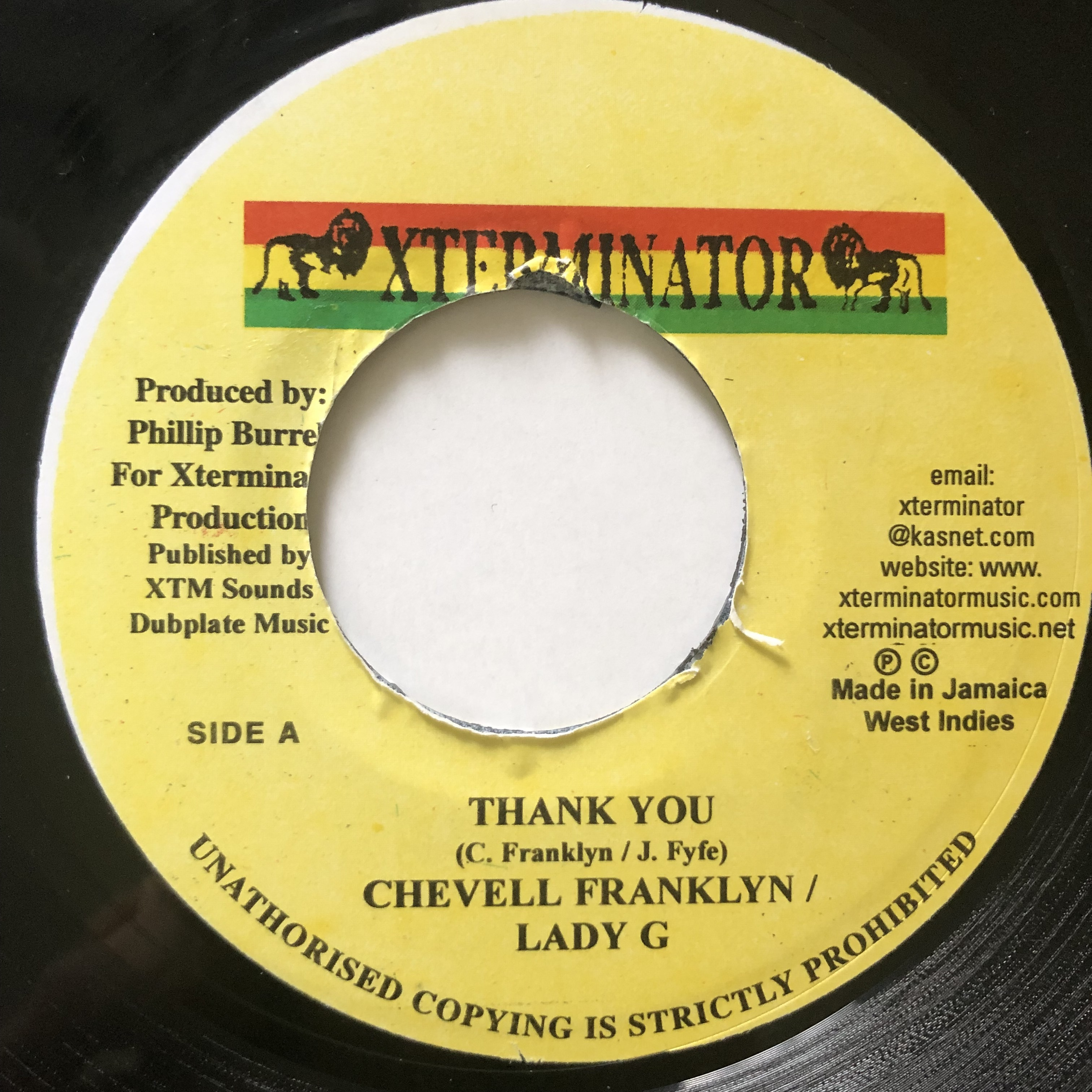 Chevelle Franklyn, Lady G - Thank You【7-20708】