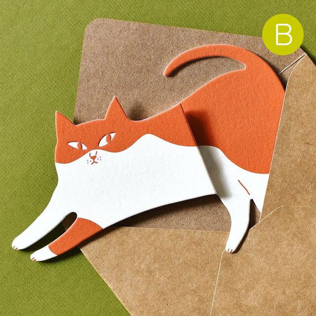 猫型メッセージカード B