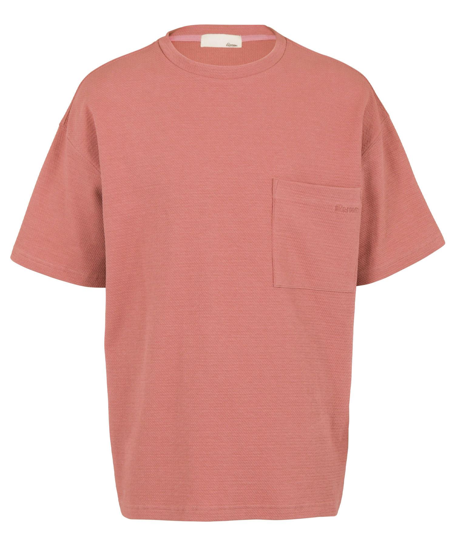 SMALL LOGO EMBROIDERY STRETCH COTTON BIG T-shirt[REC516]
