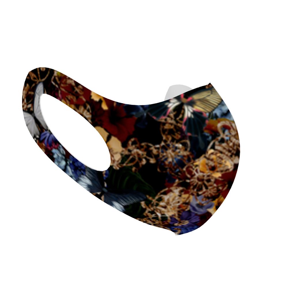 華蝶 和柄ファッションマスク Lサイズ