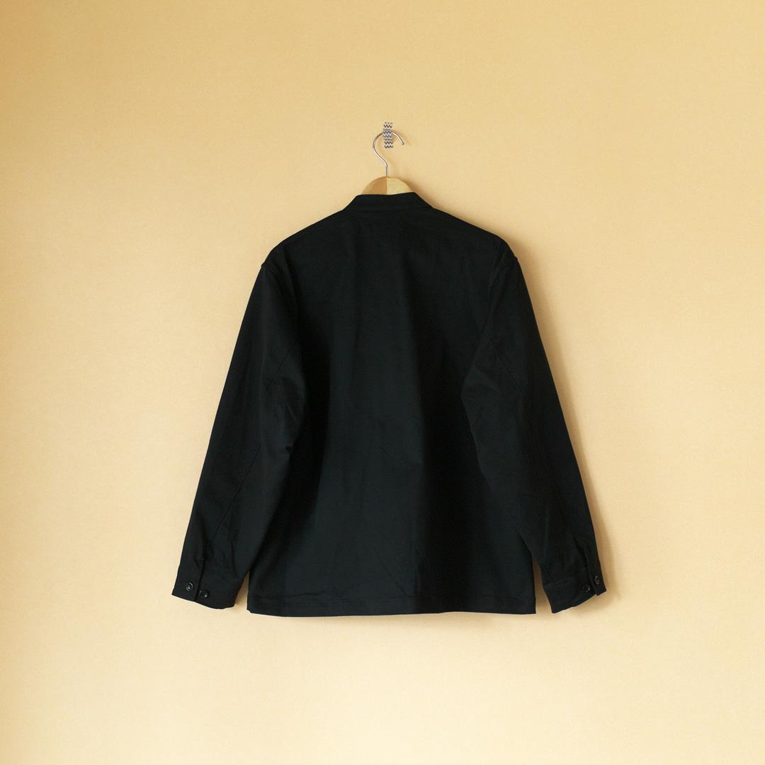 Manual Alphabet マニュアルアルファベット brushed stretch twill zip work jacket 起毛ストレッチツイルジップワークジャケット・ブラック