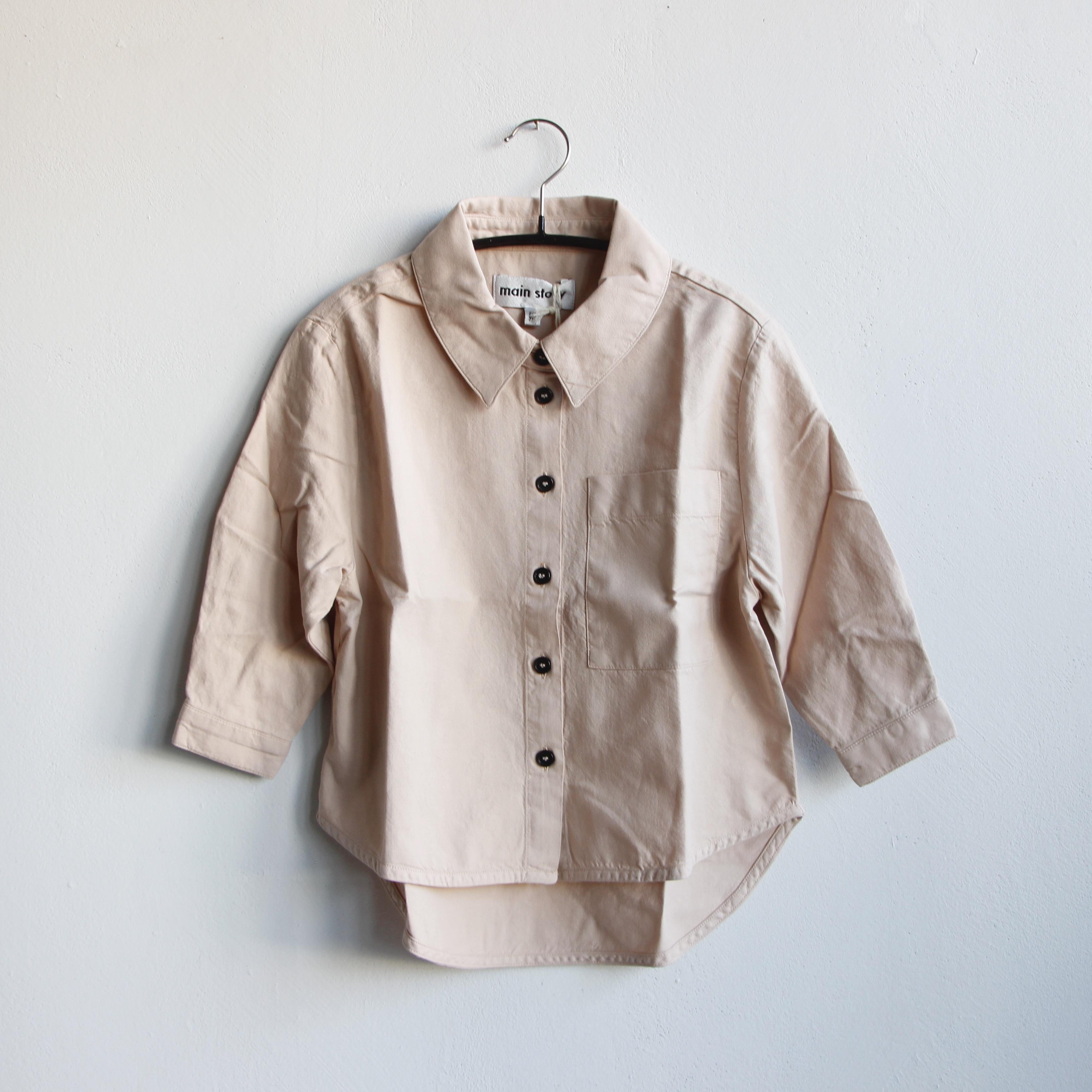 《main story 2021SS》Laundered Shirt / Smoke Grey