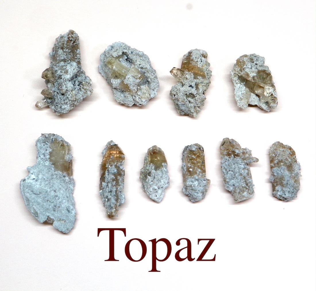 まとめて!トパーズ ユタ州産 16,9g 原石 宝石 天然石 TZ074 鉱物セット